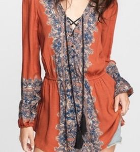 Free People Wildest Moments Tunic Boho Top